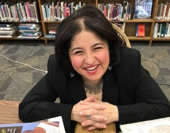 Luisa C. Murillo at a book signing