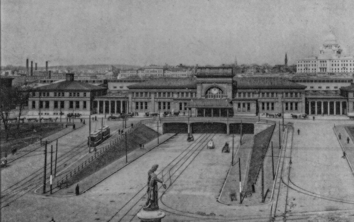 Our building as the main terminal of the Providence train station from 1898 to 1986