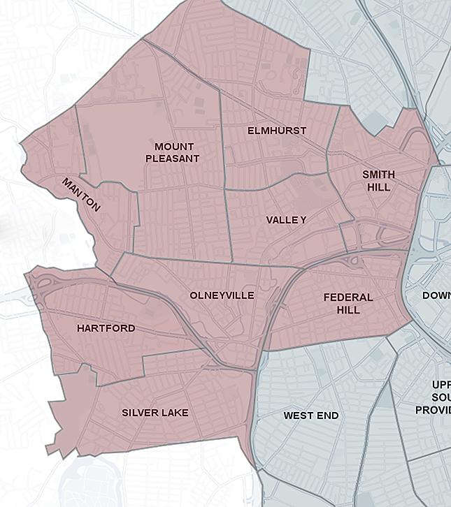 Map of Providence neighborhoods